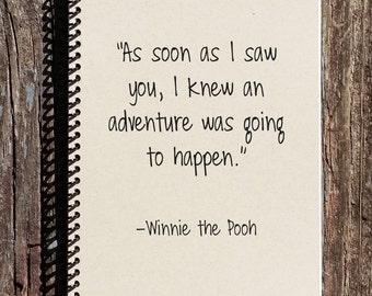 Adventure Journal - Winnie the Pooh Notebook - Winnie the Pooh - An Adventure - Diary