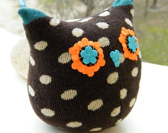 Free Shipping Unique Handmade Owl Sock Stuffed Toy Home Decor Soft Doll Birthday Gift Unique Design