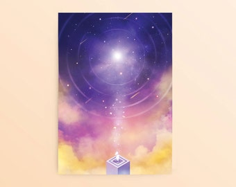 Monument Valley Postcard: The Observatory, Space Postcard, Game Postcard, Fantasy Postcard, Silent Princess, Illustrated Postcard,