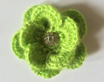 Crochet Brooch ~ Green