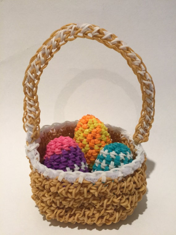 Easter Basket Rubber Band Figure Amigurumi by BBLNCreations