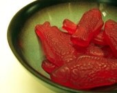 Sweet-ish Fish Soap - Vegan Candy Food Novelty Swedish Soaps - Set of 10 - Yummy Scented Cute Bright Red Colors - SLS free - Cruelty Free