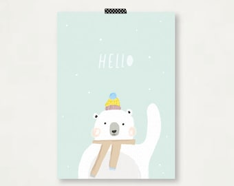 Hello Bear Illustration