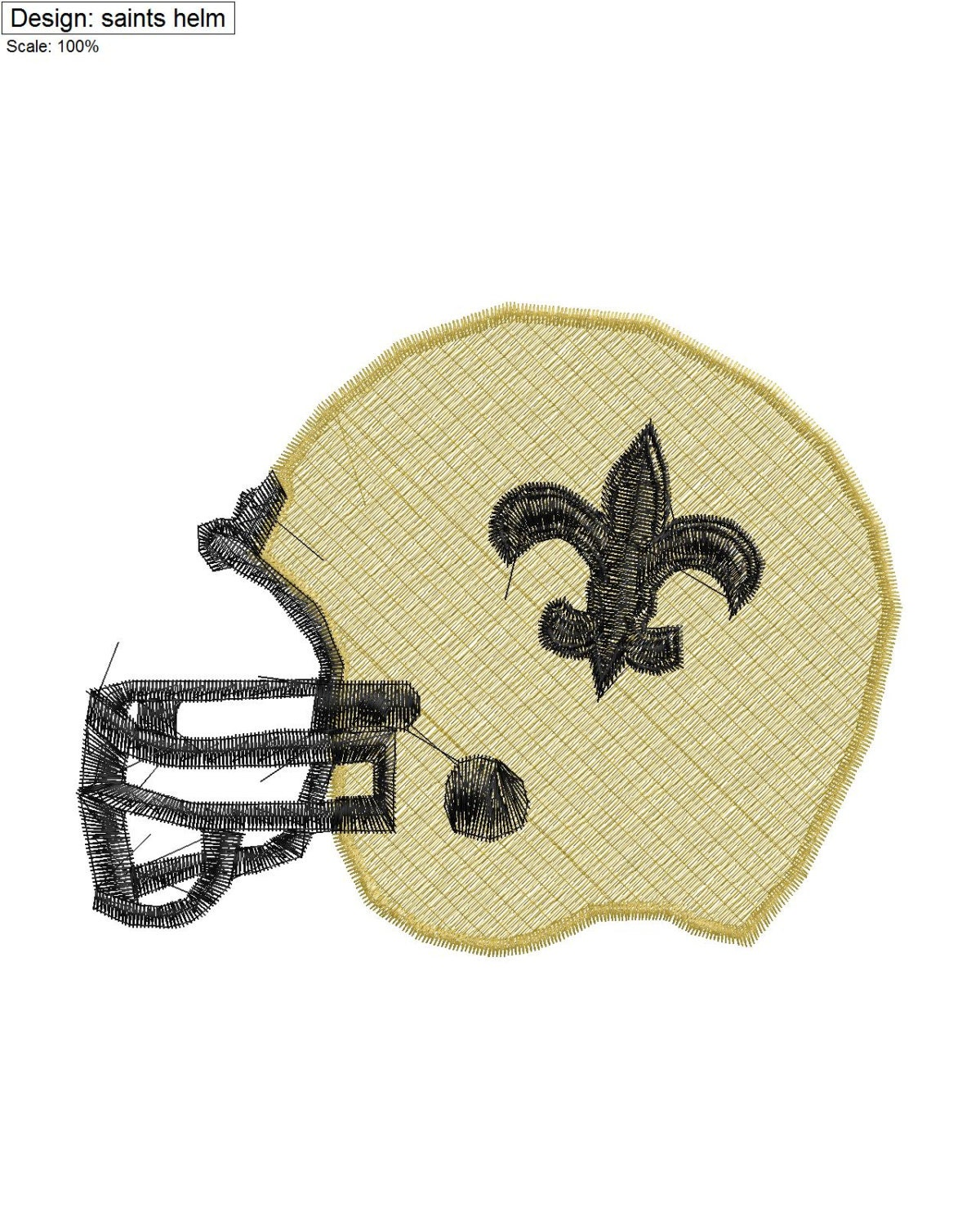 New Orleans Design: New Orleans Saints Embroidery Design .The By LOTSofEMBROIDERY