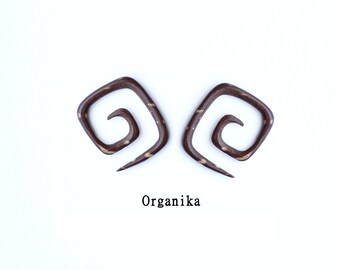 Coconut - 1.6mm (14g) - 1.8mm (13g) - 2mm (12g) - Mini Spiral Expanders - Pair