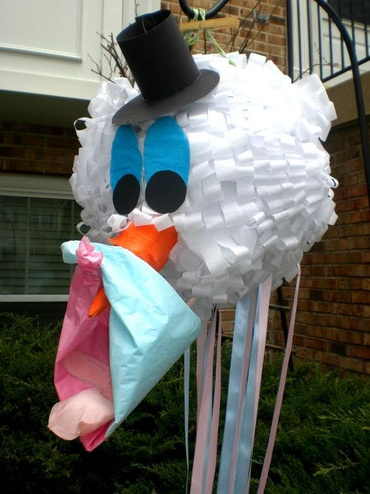 Stork Head Pi 241 Ata Pull String Pinata Gender Reveal Party Baby