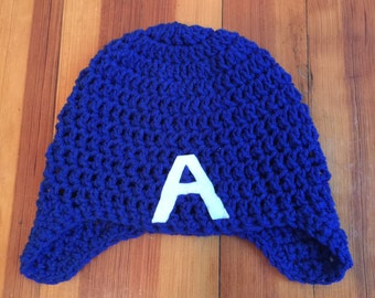 Crocheted Captain America Helmet