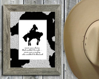 Bronc Riding / Rodeo Graphic Image Files (2) - INSTANT DOWNLOAD - 8x10 Printable Wall Art - 300dpi JPGs