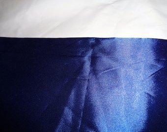 1 yard cobalt blue costume satin