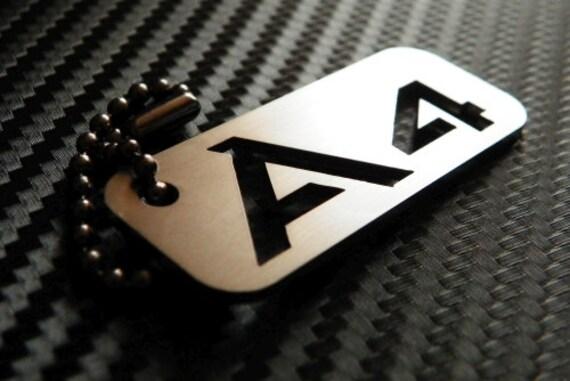 Audi A4 Keychain key tag