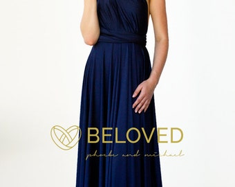 Convertible Infinity Dress Bridesmaid Dress Navy Blue