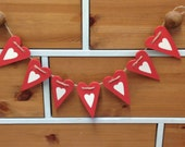 Heart Wooden Bunting.