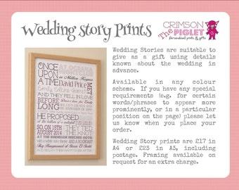 Personalised Wedding Story Print