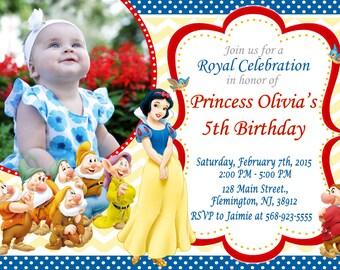 Snow White Invitation Birthday Party