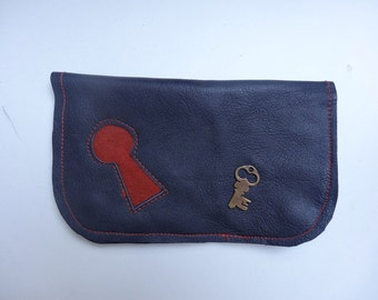 pattern lock leather tobacco pouches
