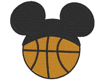 Mickey mouse basketball Hat stitch. 3 Sizes.