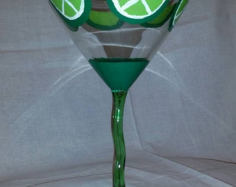 Lime Martini Glass