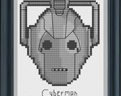 Cyberman Cross Stitch Pattern Digital PDF - Instant Download