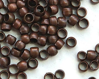 bronze crimp beads 2 mm,1000 pcs, round shape crimp beads,beading supply, jewelry finding, beading material, crimping beads,