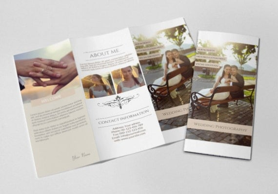 Photography Trifold Brochure Template Elegant Promotional - Promotional brochure template