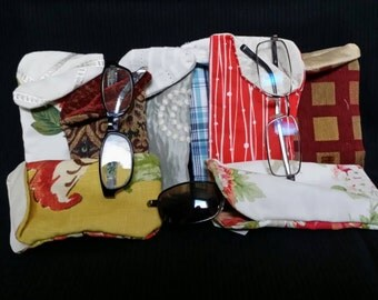 Fabric Eye Glass Cases made by Crafts Thru The Generations