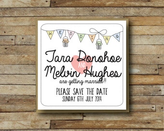 Vintage Inspired Save The Date Card x 10