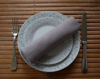 Washed linen napkins