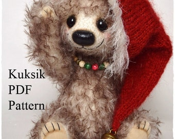 PDF Teddy bear pattern with instructions, 10 inches (26 cm) - Kuksik