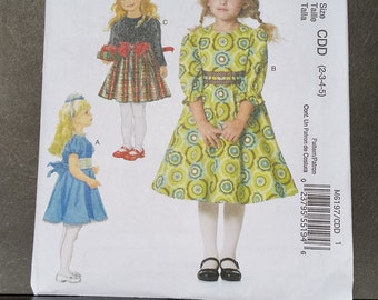 McCall's M6197 Girls' Dresses Two Sizes Available