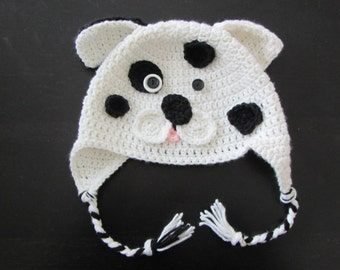 Crochet 101 Dalmatian Puppy Hat/Made to Order