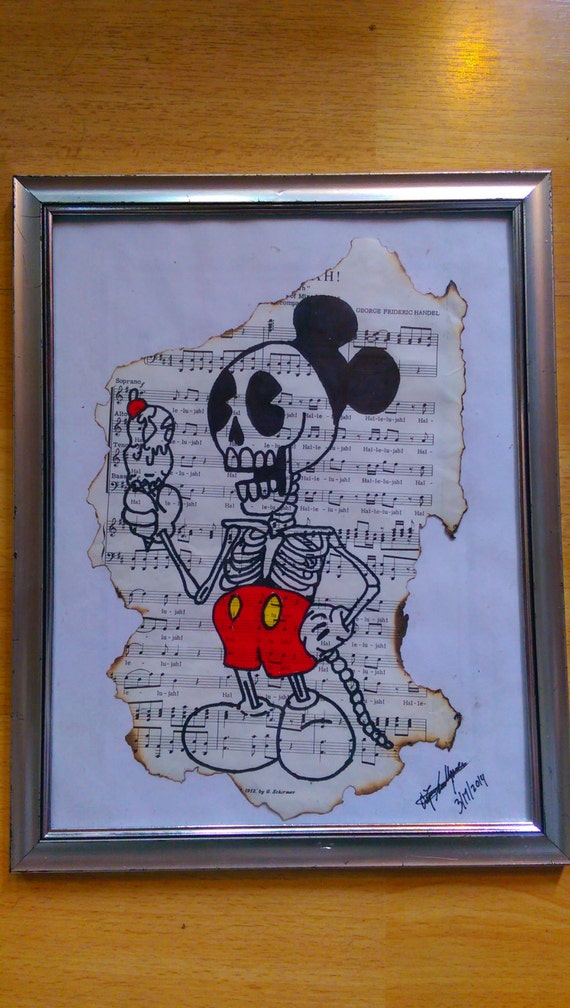 Mouse Skeleton Drawing Mickey Mouse Skeleton Drawing