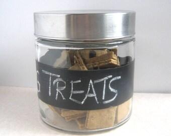 Dog Treat Jar, Treat Jar, Biscuit Storage, Chalkboard