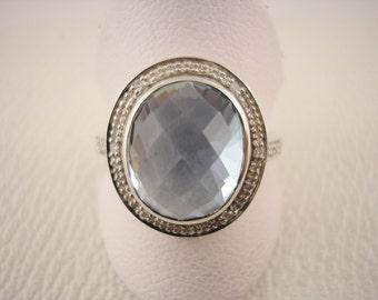 9ct White Gold Topaz Ring