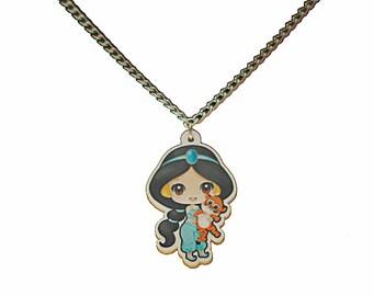 Baby Princess Jasmine Charm Necklace