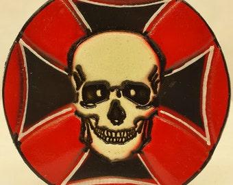 LB154 Skull & Maltese Cross