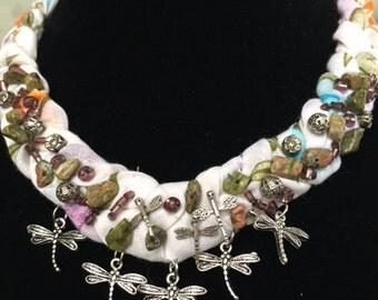 Beaded necklace, Oya necklace, Crochet necklace, Turkish yemeni necklace
