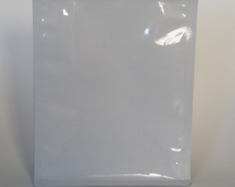 White flat bottom product bags - 8oz or 16oz
