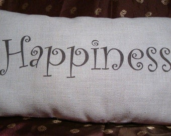 Handmade Positive Affirmation Pillows, Happiness Pillows