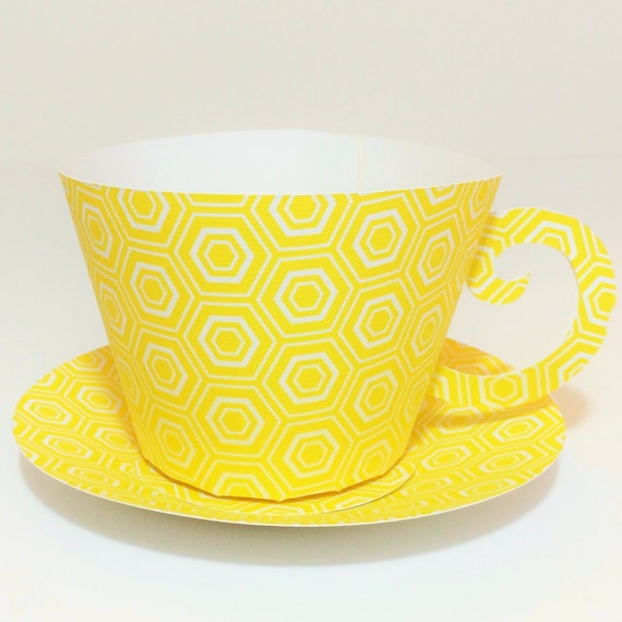 Set of 12 paper tea cup party favors for Teacup party favors