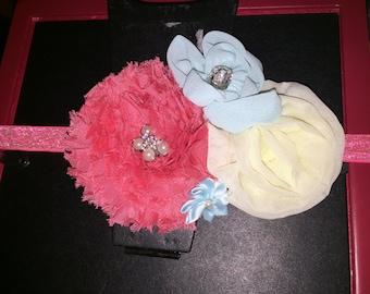 Coral blue headband