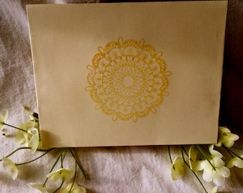 Greeting cards - gold stamped any occasion cards - pk of 10 - kraft paper cards - for those seeking thank you cards or just because cards