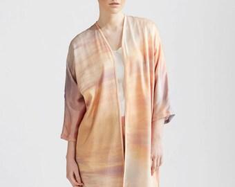 Sunset Silk Kimono Robe