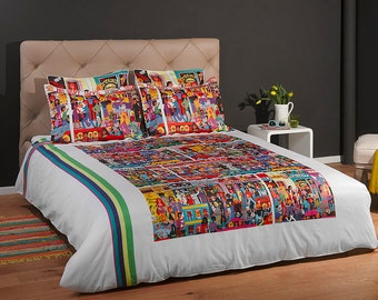 Bohemian Duvet Cover with a Print of the Painting