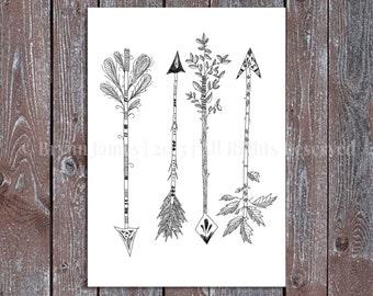 SALE! 4 Arrows Postcard