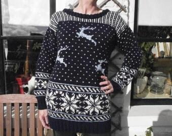 Blue reindeer sweater