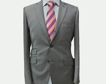 Men's Custom Suit/ Full canvas/ Super 120s/ Wool Gray No.8 /Slim fit