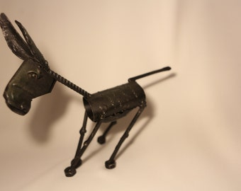 Metal Donkey -  made out of  reclaimed materials.