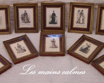 Glass frame miniature: burning old fashion / 10th and 12th