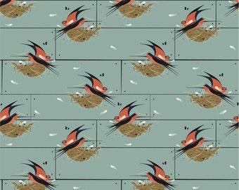 Barn Swallow fabric by Charley Harper for Birch Organic Fabrics