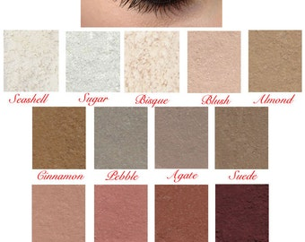 Bare Mineral Pure Natural Silk N Satin Eyeshadow Makeup Eye Liner & Shadow Pigment Made in the USA